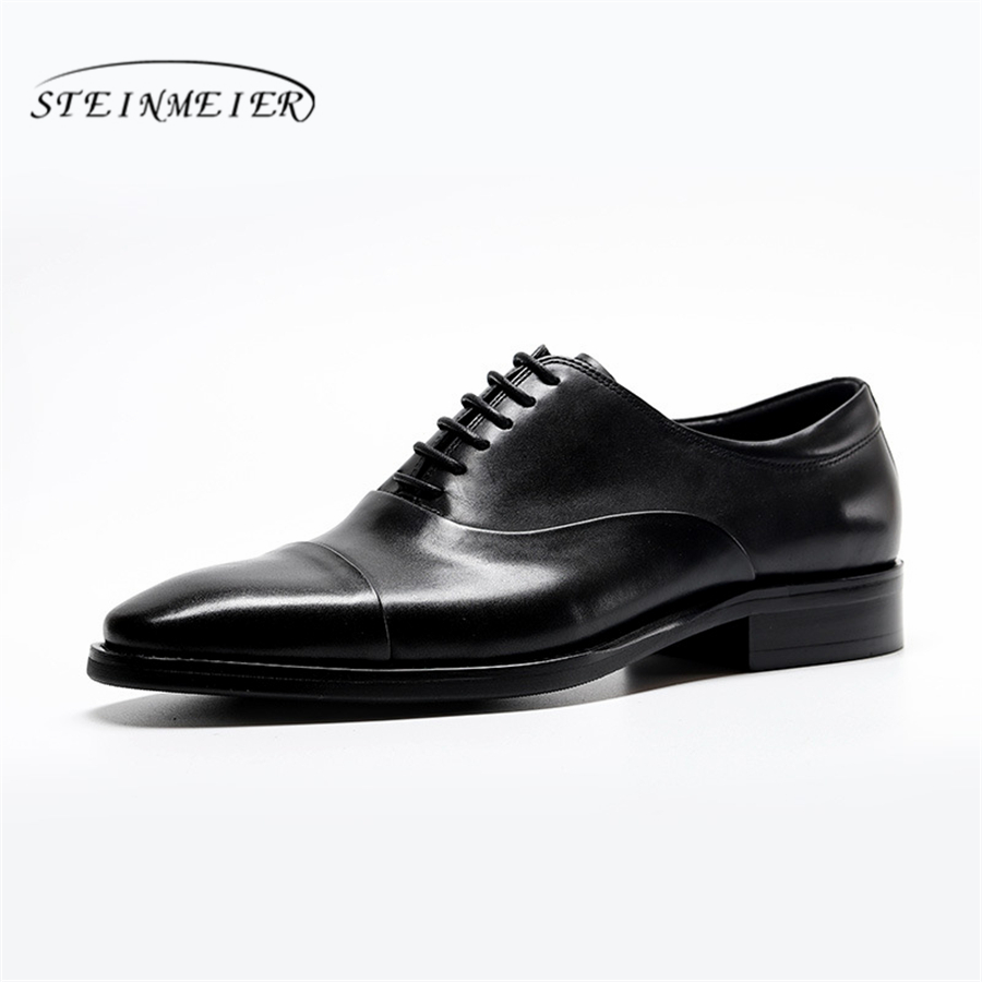 100% Genuine cow leather brogue shoes mens casual flats shoes vintage handmade sneaker oxford shoes for men black red spring aardimi 100% cow leather oxford shoes for woman spring