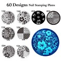 DIY Negative Space Nail Art Stamping Stamp Template Image Plates Cool Triangle Nail Stamp Plate 60 Stencil Tools For Choose