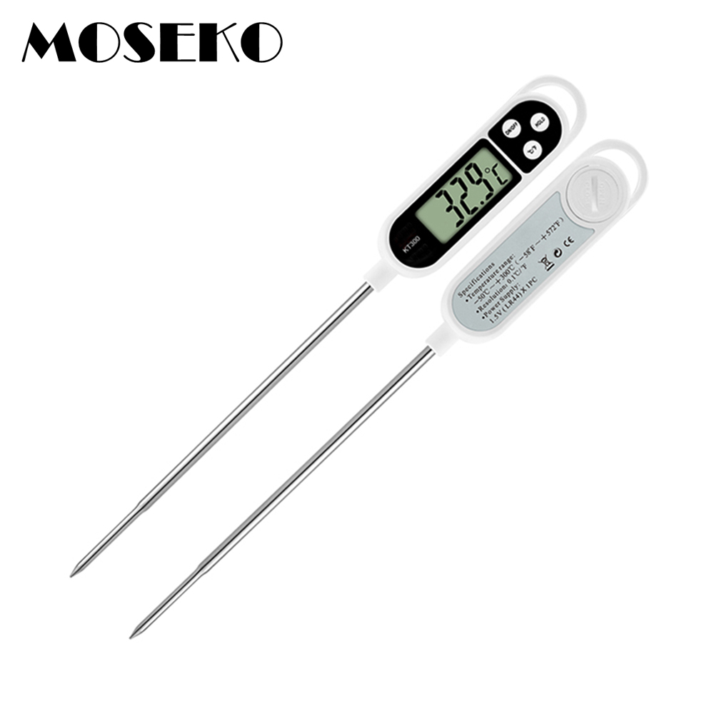 Digital Food Thermometer BBQ Cooking Meat Hot Water Measure Probe Kitchen Tool Thermometer TP300 luces led de policía