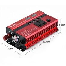 600 Вт Портативный 50 Гц Автомобильный светодиодный дисплей экран преобразователь питания DC 12 В к AC 220 В 4 usb порта зарядное устройство XNC