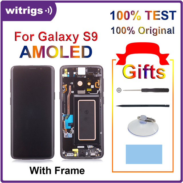 Witrigs לסמסונג גלקסי S9 LCD תצוגת מסך מגע digitizer מסגרת עצרת