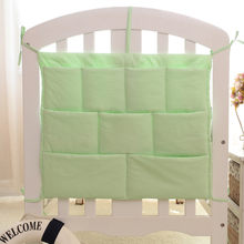 Rooms Nursery Hanging Storage Bag Cartoon Baby Cot Bed Crib Organizer Toy Diaper Pocket for Newborn Crib Bedding Set(China)