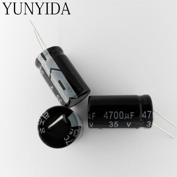Free Shiping 5pcs 4700UF 35V   Aluminum Electrolytic Capacitor