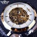 Победитель 4 Кольцо Дизайнер Аналоговые Прозрачная Задняя Часы Мужчины Luxury Brand Механическая Скелет Наручные Часы Мужские Часы
