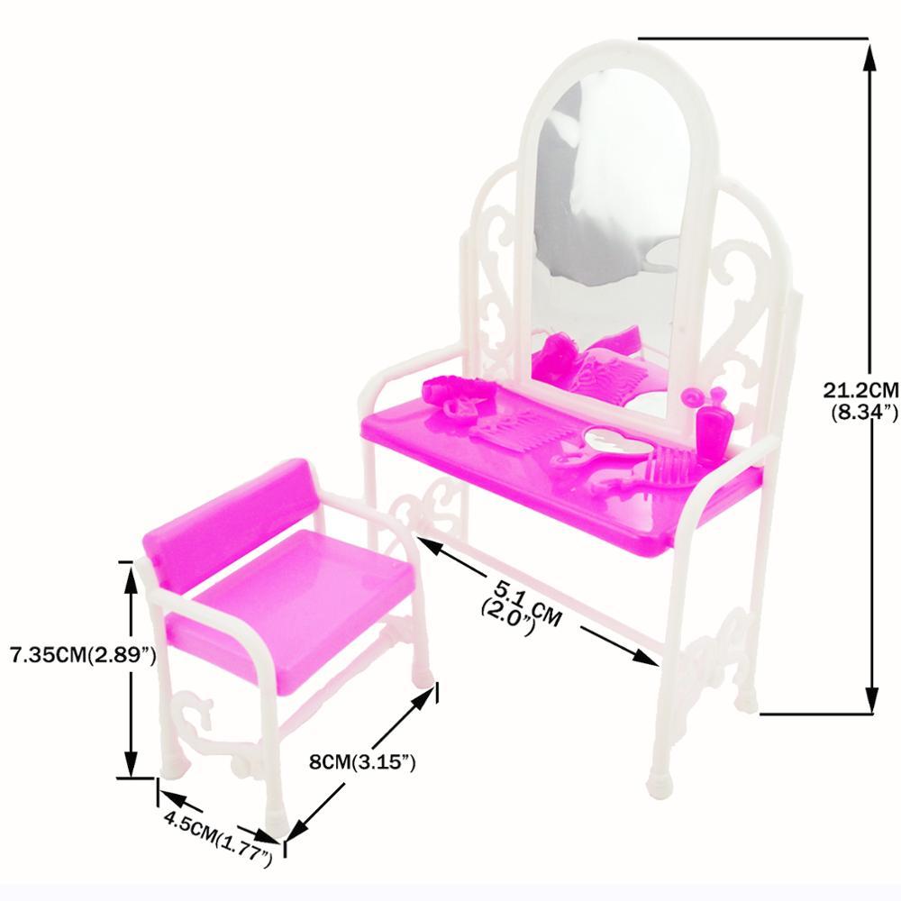 1P019A- 梳妆台凳子含五小配件  (2)