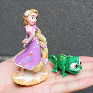 Image 2 - 2piece/lot  New Style Tangled Figure toys Chameleon Pascal Green Chameleon and Rapunzel princess figure toys