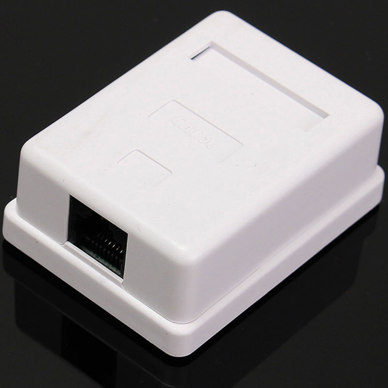 Cat5e RJ45 Wall Coupler Jack Adapter rj45 ethernet cable junction box Desktop Mount Box 8P8C UTP Single Port extension cable JB ...