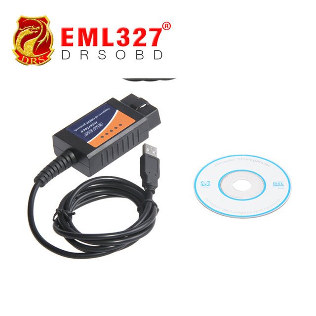 Wholesales OBD/OBDII scanner ELM 327 car diagnostic interface scan tool ELM327 USB supports all OBD-II protocols