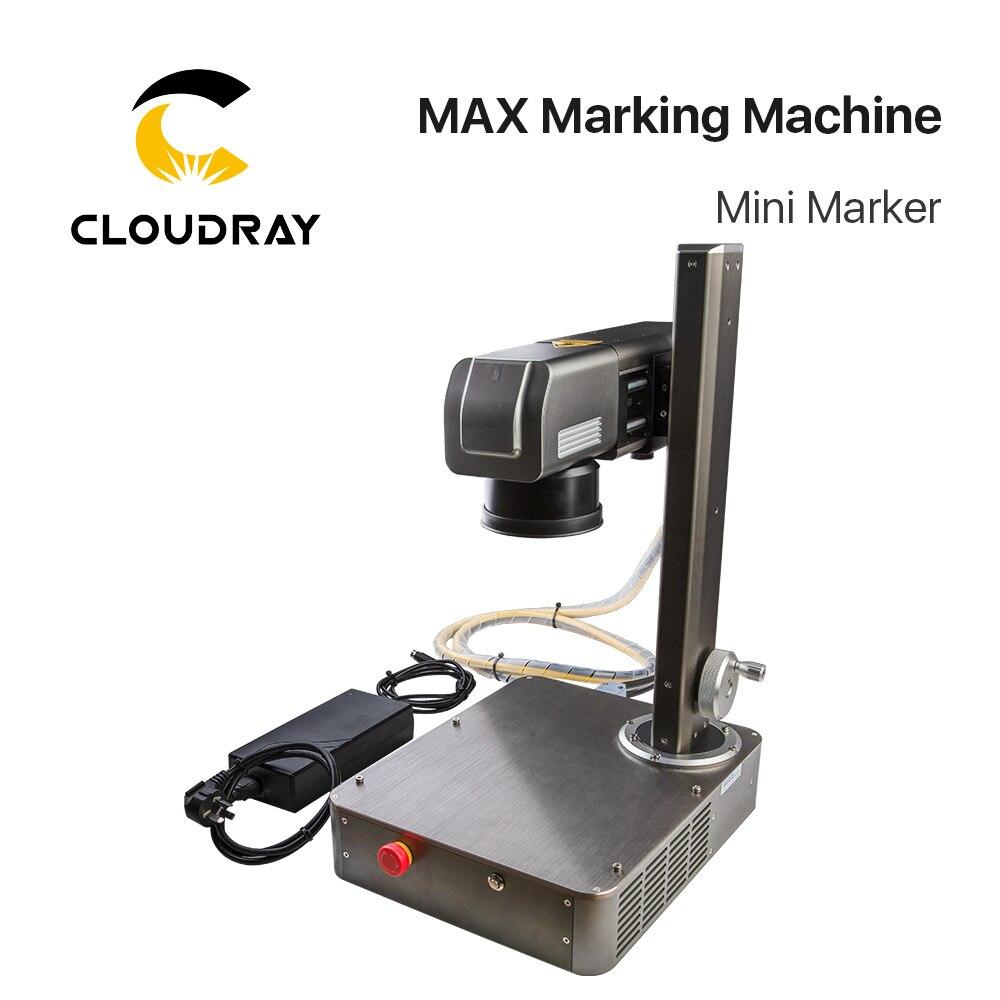 Mini marqueur de Machine de marquage de Laser de Fiber de Cloudray 20W pour marquer l'acier inoxydable en métal