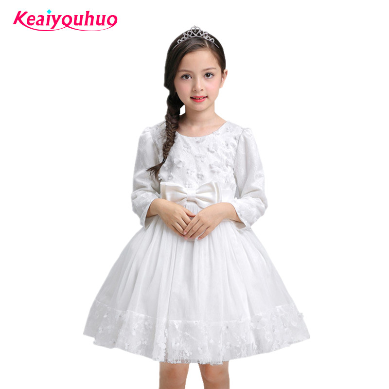 цены 2017 Baby Flower Wedding Dress Kids Evening Dresses Teen Girl Party Dress Birthday Prom Gown Children Clothing Girl 3-10 Year