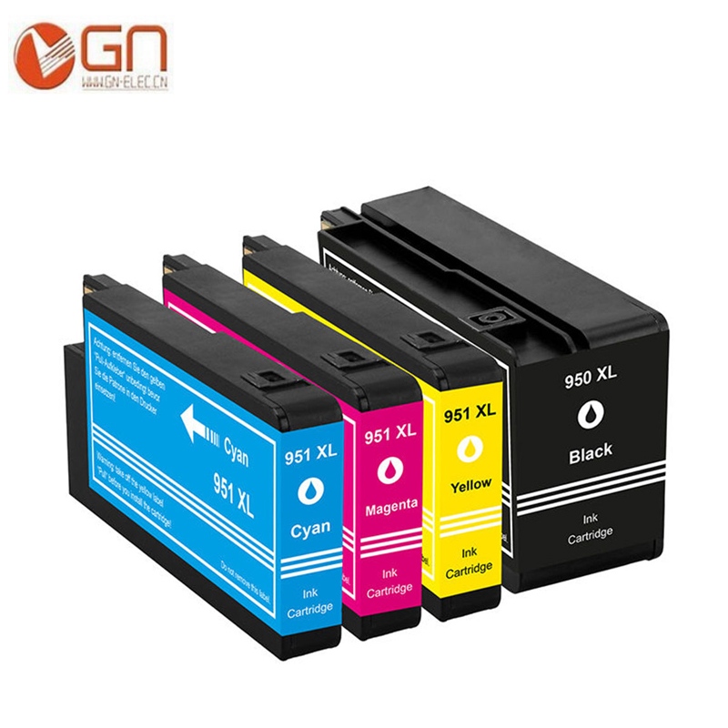 GN 4PK For HP950 <font><b>951</b></font> For <font><b>HP</b></font> 950XL <font><b>951</b></font> XL Ink Cartrige for <font><b>hp</b></font> Officejet Pro 8100 8600 8630 8610 8620 8650 251dw printer image
