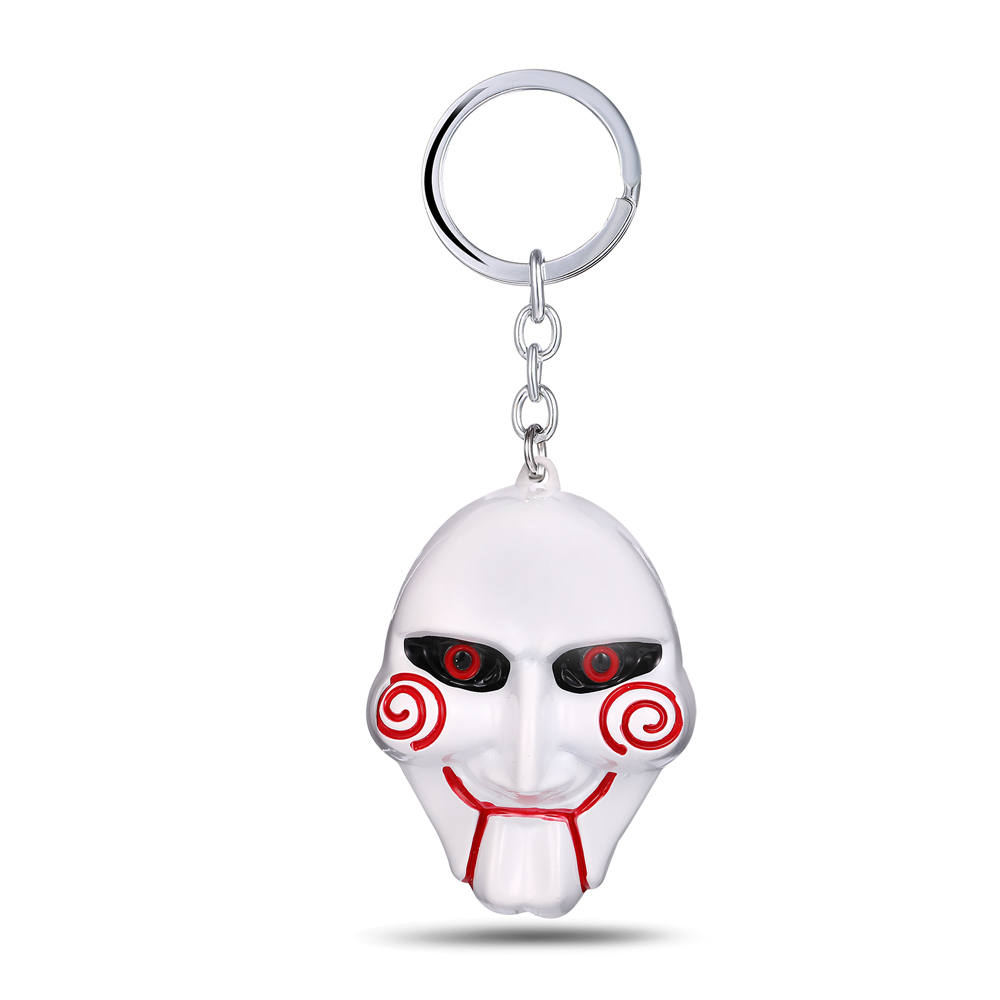 MS JEWELS The Moive SAW Key Chain Killer Mask Metal Key Rings For Present Gift Chaveiro Keychain 3 Colors