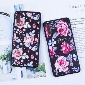 Image 2 - Case For Samsung Galaxy A7 2018 Case S7 Edge S9 Plus A3 A5 A7 2016 2017 J2 Pro J3 J7 2018 J3 J5 J7 TPU Silicon Flower Back Coque