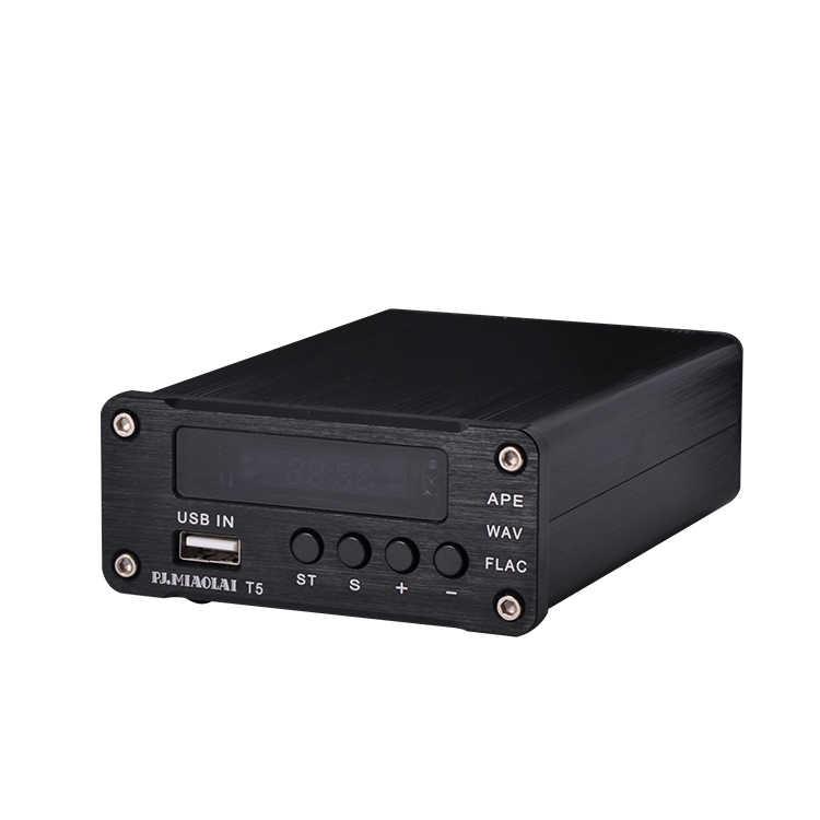 Poziom HiFi pulpit bezstratny odtwarzacz muzyki wielofunkcyjny odtwarzacz muzyczny dekoder dźwięku wyjście cyfrowy koncentryczny sygnał światłowodowy T5