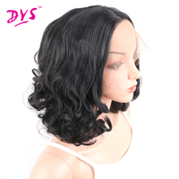 Deyngs Short Natural Black Synthetic Lace Front Wig Long Natural Wavy Costume Full Glueless Synthetic Wigs