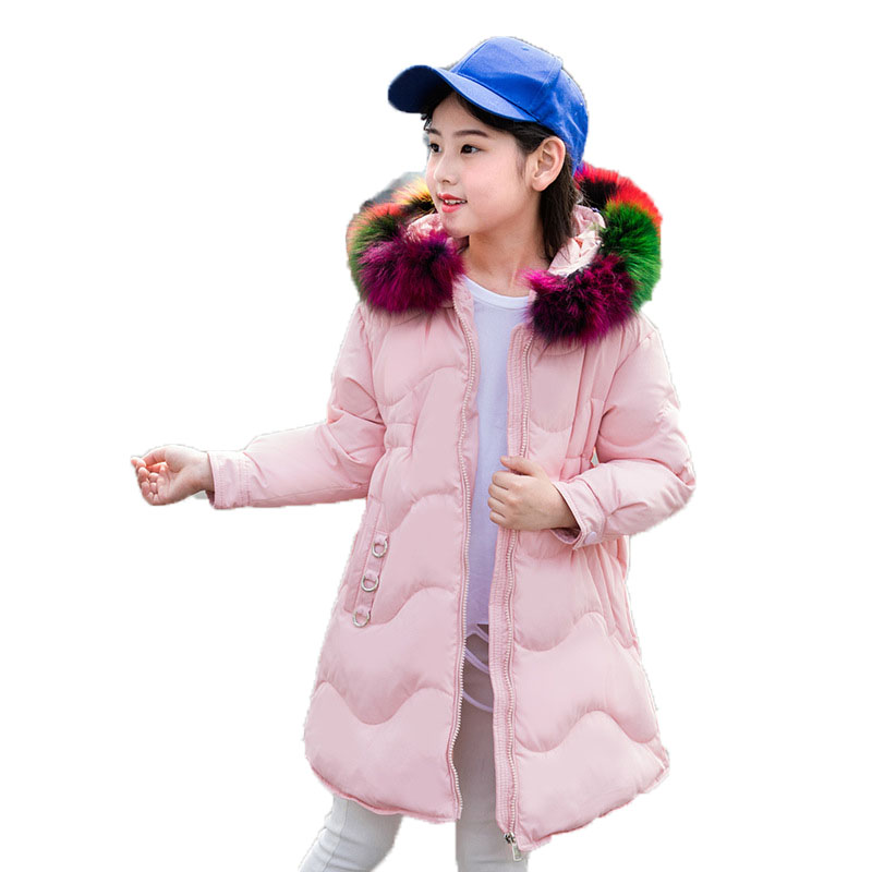 Girls White Duck Down Warm Coat Kids Girls Outerwear Clothes Baby Down Jacket Colorful Real Fur Collar Hooded Parkas Jacket E262 kids winter jacket 2018 new brand winter jacket girls coat with real fur hooded girls warm down jacket outerwear parkas 5 14t