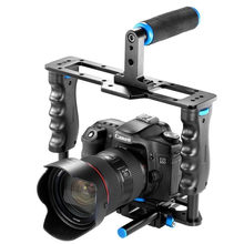 Aluminum Alloy Camera Video Cage Film Movie Making Rig Kit Video Cage+Handle Grip+Rod for Canon 5D/700D/650D Nikon D7200 DSLR(China)