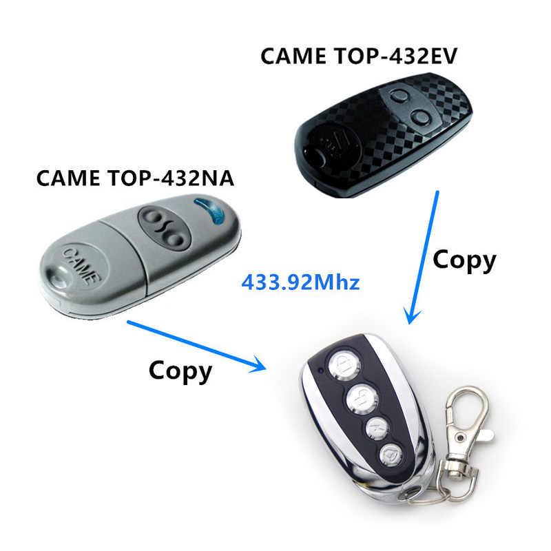 Copia vino el control remoto top432na vino top432ev 433,92 Mhz duplicador con batería para puerta de garaje universal llave de puerta fob