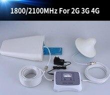 Neue Ankunft! LCD display 2g 3g 4g handy signal booster DUAL BAND 1800/2100 mhz cellular signal handy repeater verstärker kit