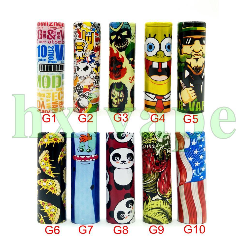 5pcs 18650 Battery Wrap Sticker Case Skin Sleeve For 18650 Battery Vape Battery Accessories Sleeve Case Insulator