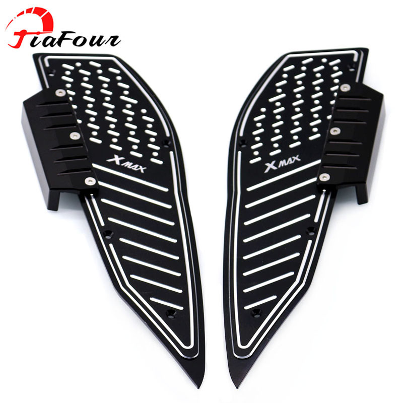 For YAMAHA XMAX250 XMAX300 XMAX400 XMAX 250 300 400 X-MAX 400 300 Scooter Footrest Motorcycle Footboard Step Autobike Foot Plate for yamaha n max 155 nmax 155 n max 155 2015 2016 motocross accessories footrest motorcycle footboard step autobike foot plate