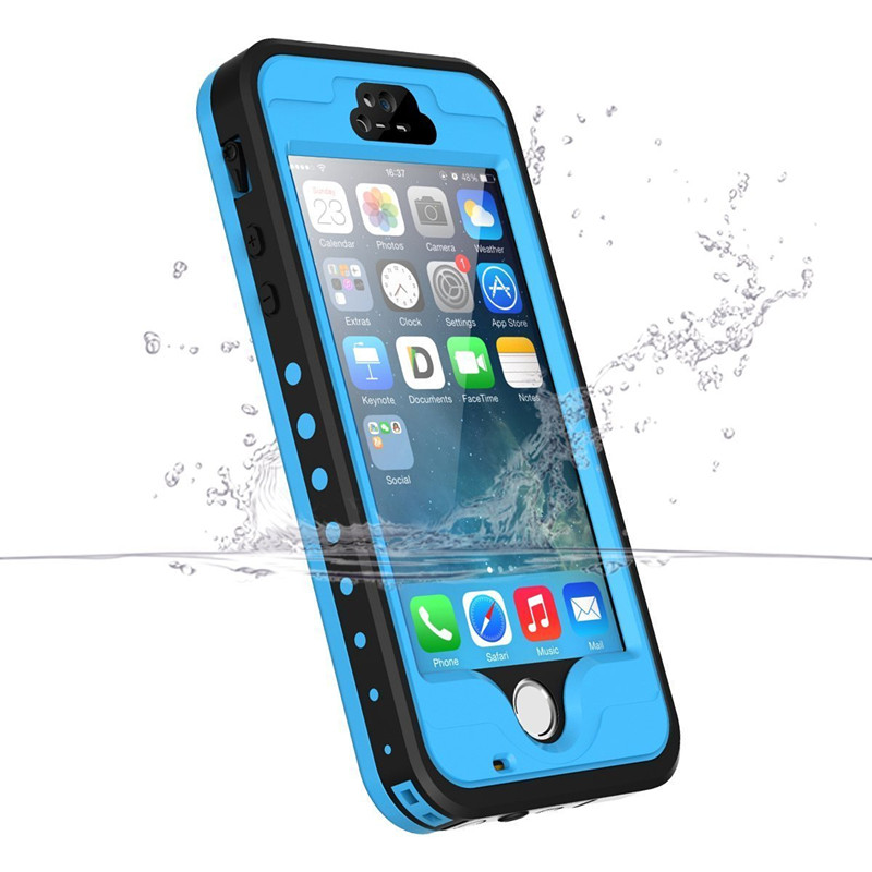 For iPhone 5s Waterproof Case 100% Sealed Water Proof Underwater Cases for iphone 5c Diving Swim Protective Cover for iphone SE
