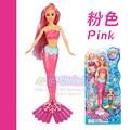 2 pcs Sereia Princesa Boneca/Set, 2016 new design pink & blue & green cores acessórios para barbie boneca meninas dom brinquedo do bebê