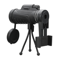 40X60 HD Zoom Lens Camping Travel Waterproof Monocular Telescope Lens Tripod Clip Universal For IPhone Android