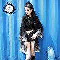 2016 otoño harajuku punk rock gótico dollskill estilo unif llama negro tejer suéter de manga larga floja de la rebeca larga de las mujeres