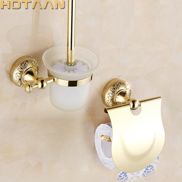 Free Shipping Bathroom Accessories Set Paper Holder Toilet Brush Sets