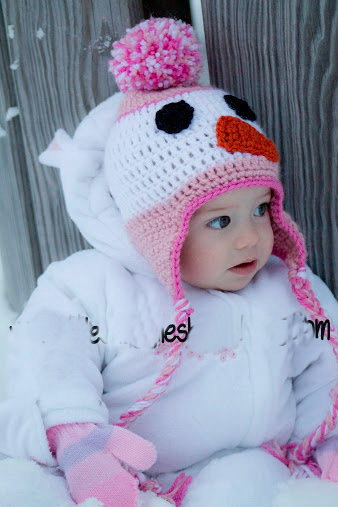 Latest Snowman Baby Crochet Hat Beanie Handknitted Infant Kids Winter Earflap Hat Photography Props 1pc Free Shipping