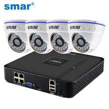 Smar Nhà Giám Sát Hệ Thống 4CH 1080P POE 48V NVR Camera Quan Sát Bộ 4 2MP 20FPS Trong Nhà Dome IP camera PoE NVR Bộ Hệ Thống Camera Quan Sát
