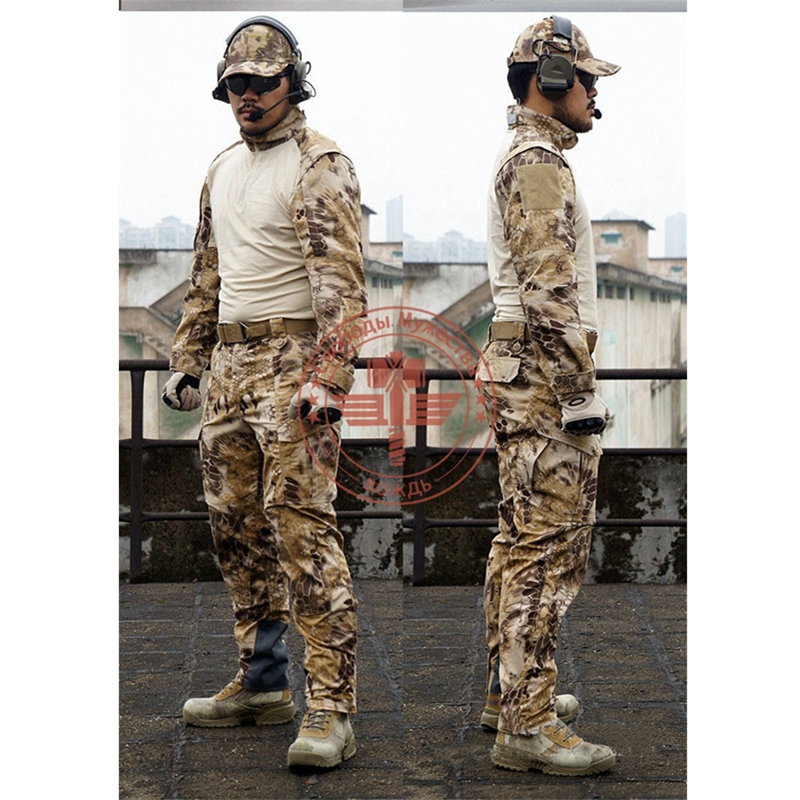 Tactical Army Military Cargo Pants&Shirt Camouflage Waterproof Airsoft Paintball BDU Uniform Combat US Men Clothing Sets emersongear g3 combat shirt pants military bdu army airsoft tactical gear paintball hunting uniform bdu atacs au emerson