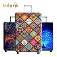 Разнообразние стилей аксессуары для путешествий, чемодана крышка чемодан защиты багажа пылезащитный чехол стрейч ткани багажник комплект ...