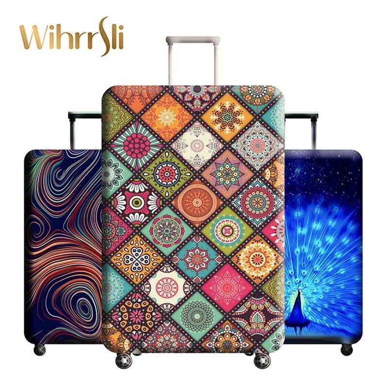 Divers styles accessoires de voyage couverture de bagages valise protection bagages couverture de poussière tissus extensibles coffre set cas pour
