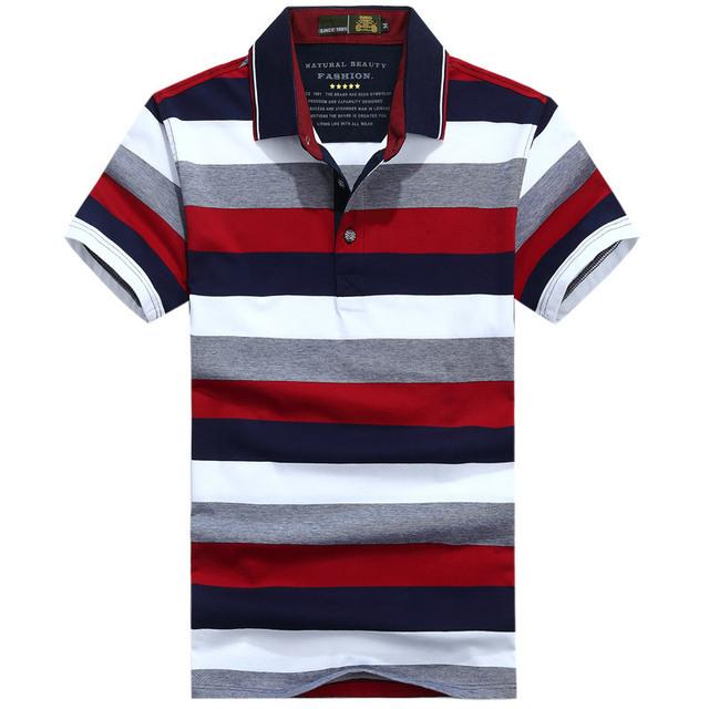 Striped Polo Shirt Men