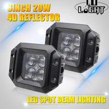 CO LUZ 3 Inch 20 W Led Trabalho Light Ponto Do Feixe de Inundação Auto Carro Luzes de condução 12 V 24 V Luzes de Trabalho Offroad para Jeep Ford Lada 4×4 Uaz