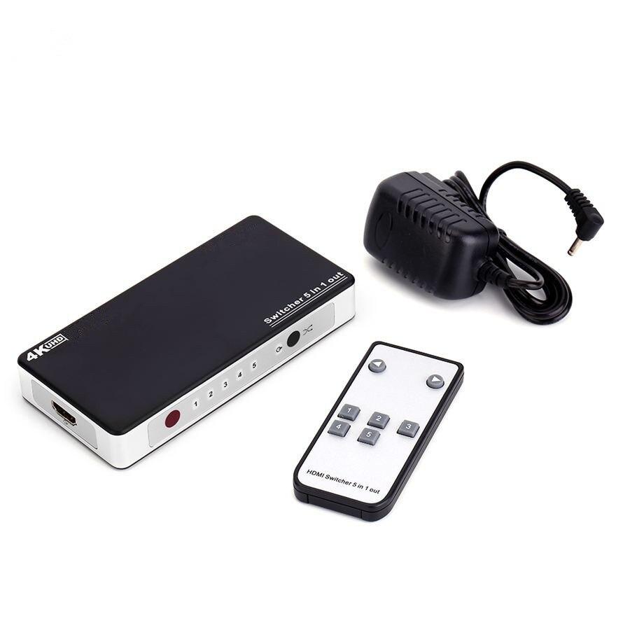 5 port hdmi splitter hdmi switcher ir remote 5 in 1 hub for 4 box auto