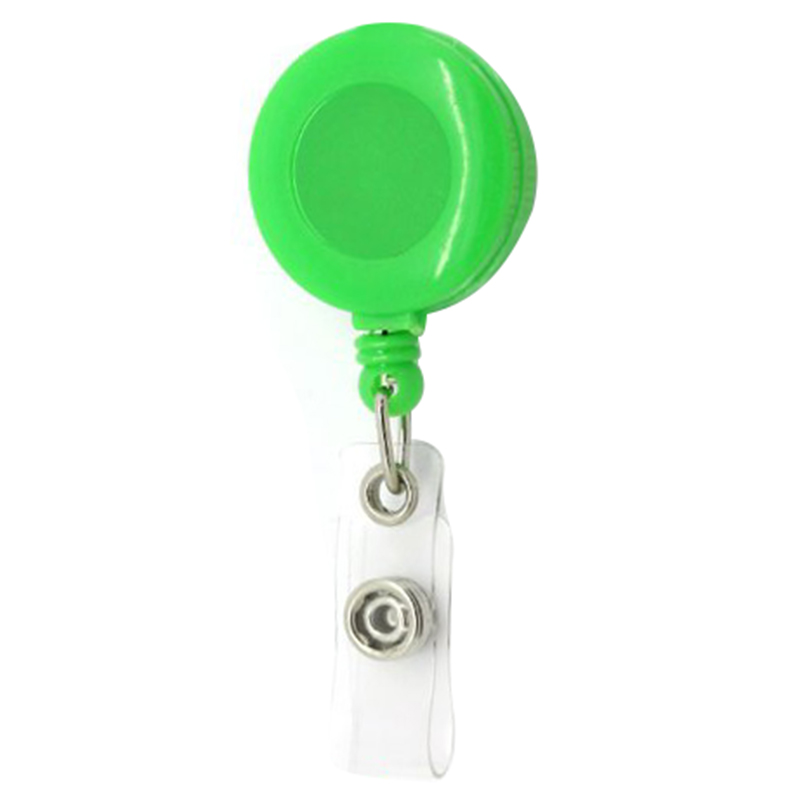 Retractable Reel ID Badge Key Card Name Tag Holders with Belt Clip (Pack of 50--Green) 100 pcs clip retractable reel id badge holder key chain reels 10 colors