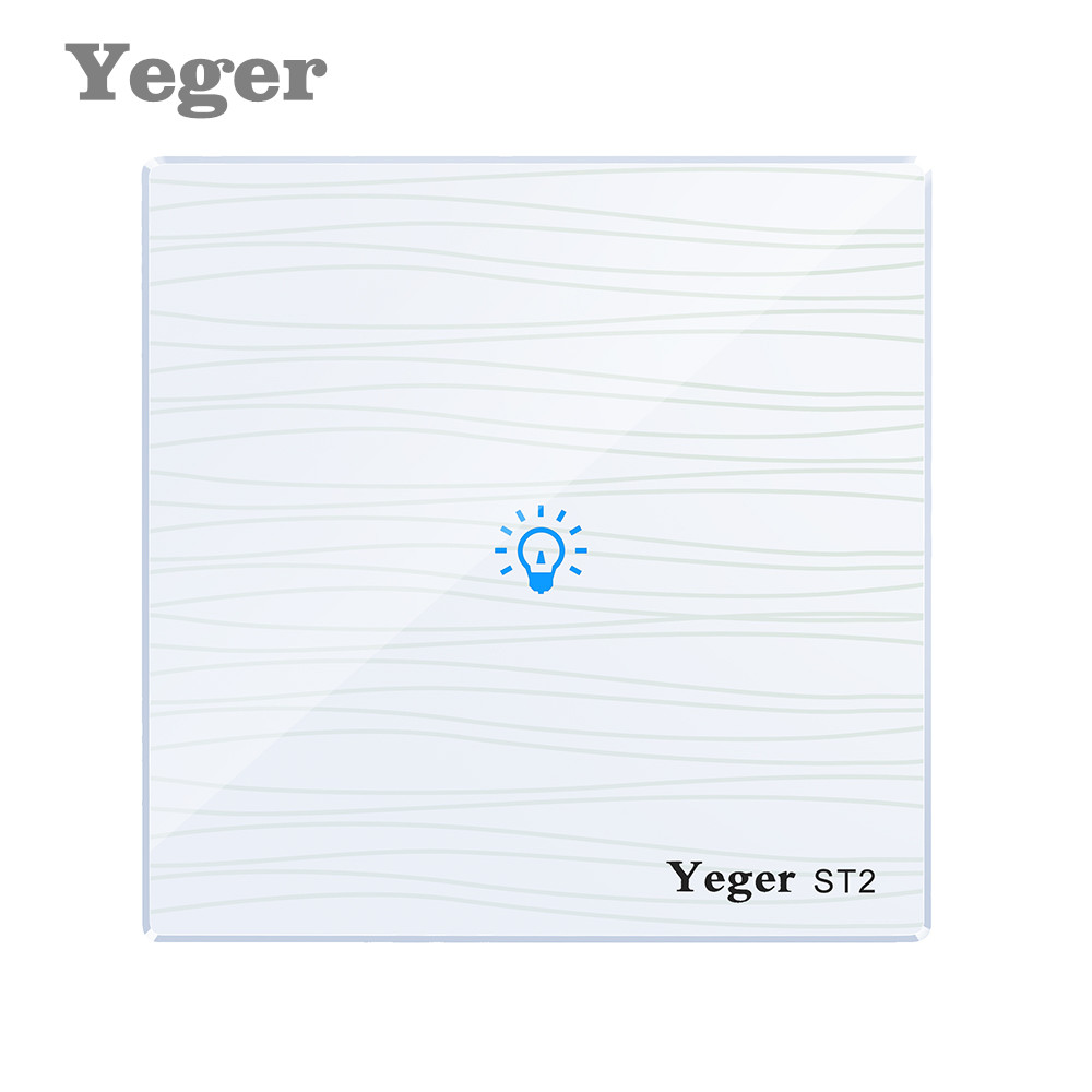 Yeger EU/UK Standard Touch Switch 1 Gang 1 Way,Crystal