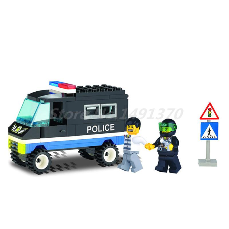 Enlighten City Police Educational Building Blocks Sets Heros Truck Weapon Model Bricks Toys For Children Christmas Gifts 6727 city street police station car truck building blocks bricks educational toys for children gift christmas legoings 511pcs