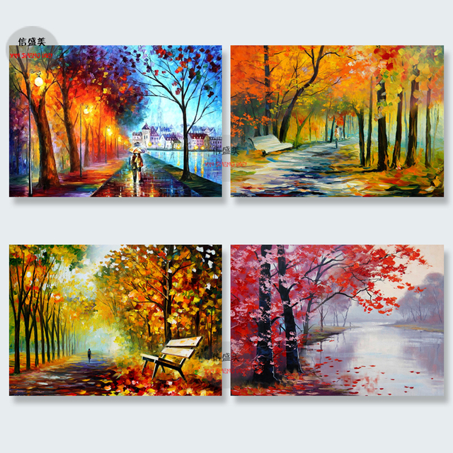 Decorative Paintings HD Print Modern Wall Pictures Home Decor Modular Painting Canvas Abstract Landscape Tree Picture