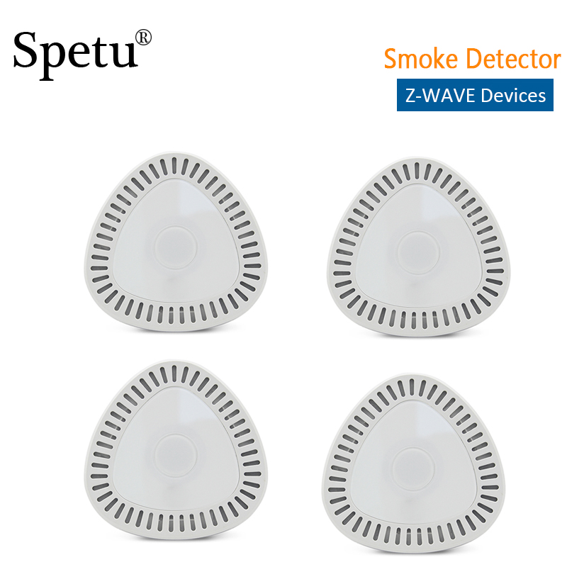 Spetu 4pcs/lot Z-Wave Smoking/Gas Sensor Wireless Z Wave Natural Gas Smoke Detectors For Smart Home Alarm Sysytem EU 868.42Mhz