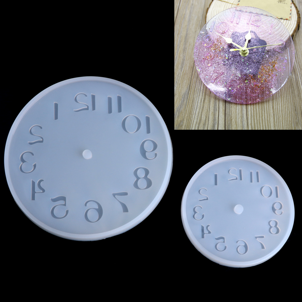 Arabic Numerals Silicone DIY Jewelry Mold Pendant Watch Clock Shaped Fondant Cake