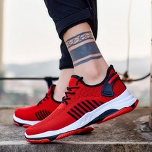 2019 Men Vulcanize Shoes Casual Comfort Sneakers Wear-resisting Non-slip Male Mesh Tenis Masculino Plus Size 39-45
