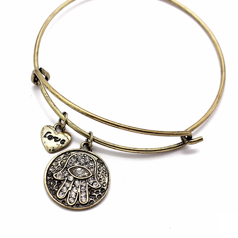 Women's Hamsa Hand Bangle Bracelet 4