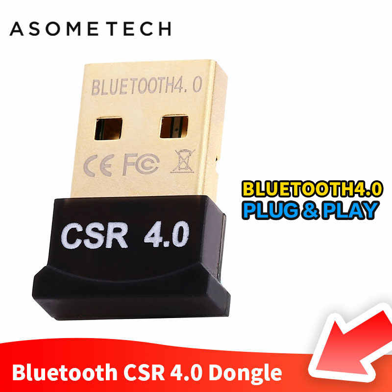 Mini USB Bluetooth 4 0 Adapter For Computer PC Audio Receiver Wireless  Bluetooth Dongles For Windows 10 8 7 Vista XP 32/64