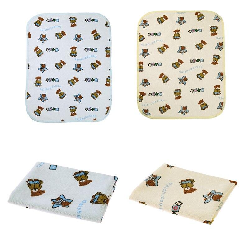 2pcs/set Baby Waterproof Pads Diapers Mattress Reusable Changing Covers Mat Children Game Floor Mats Folding Baby Diaper 40x50cm