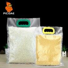 Vacuum Food Plastic Bag Packaging Heat Seal Storage Hermetic Transparent Hand Buckle Flour Frozen Rice Snack Beans Meat Portable