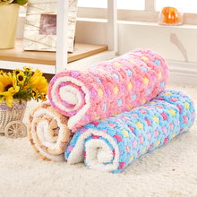 Dog Cat Rest Blanket Breathable Pet Cushion Dog Cat Bed Soft Warm Sleep Mat Size S/M